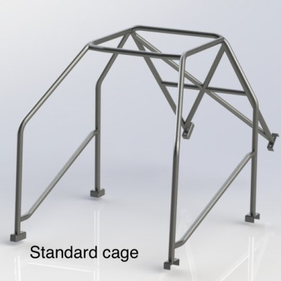 MGB GT (HALF CAGE) 4 Point Bolt in Roll Cage