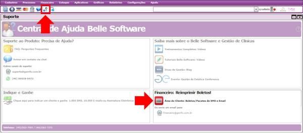 Área do Cliente Belle Software