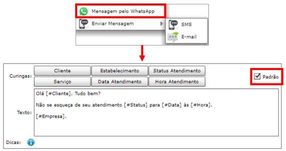 Mensagens pelo WhatsApp no Dr. Análise
