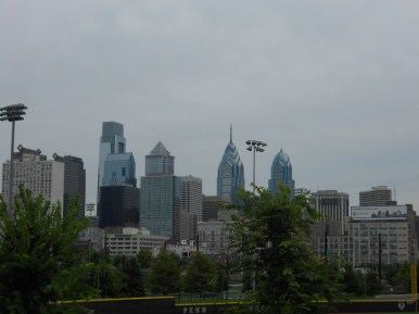 View of downtown Philly from Penn's Franklin Field
