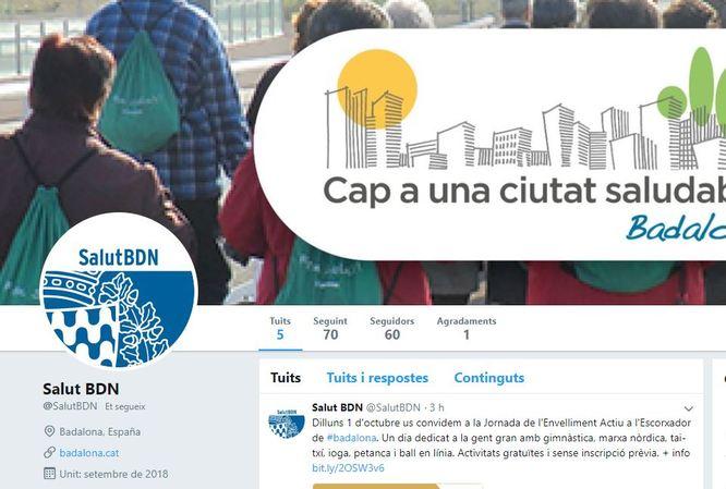 El Servei de Salut i el Servei de Gent Gran de l'Ajuntament obren noves pàgines a Twitter i Facebook