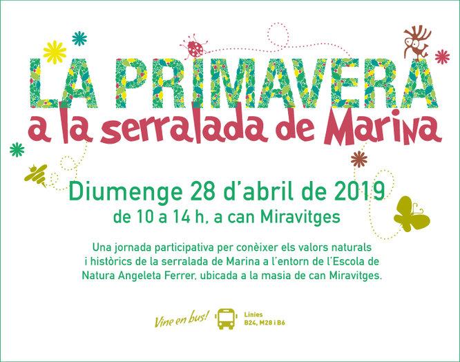 """Diumenge 28 d'abril se celebrarà la quarta edició de """"La primavera a la Serralada de Marina"""""""