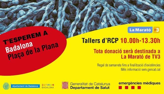 La plaça de la Plana acull dissabte tallers per aprendre les tècniques de reanimació cardiopulmonar (RCP)