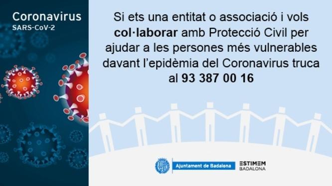 L'Ajuntament de Badalona demana als negocis que tinguin material sanitari que el donin per repartir-lo en els centres sanitaris que ho necessitin