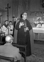 Presentació de les dues campanes a la Capella Marcús, març de 1957 Font: col·lecció Ramon Marull