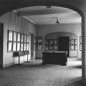 Exposició permanent al Palau de la Virreina, desembre de 1959 Font: col·lecció Ramon Marull, autor desconegut