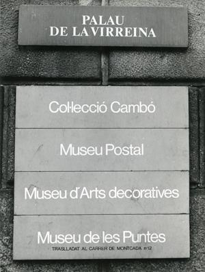 Cartel del Museo Postal y Filatélico, 1986 Fuente: AFB, afm-sn. Autor desconocido