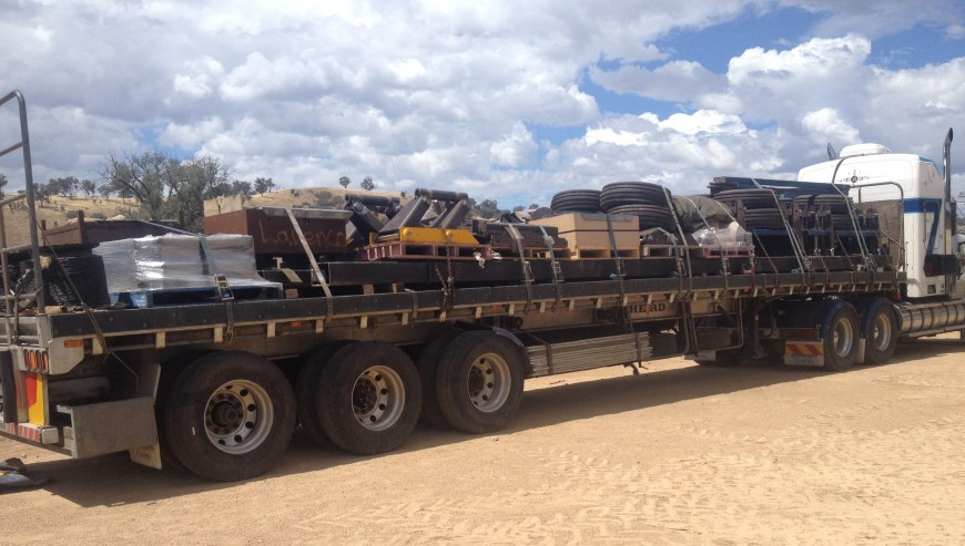 Two Ajustabar's packed up for the southern wheat belt in WA