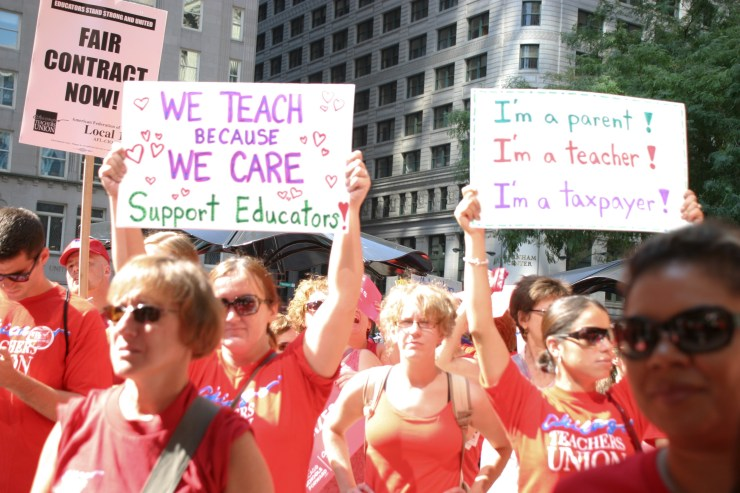 Teachers rally for school funding