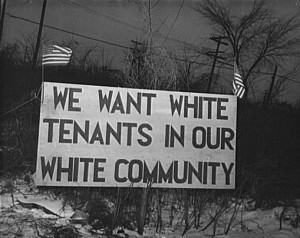 Whites Only Sign
