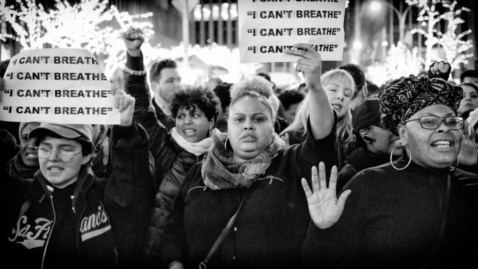 A group of women of color protest after Eric Garner's death
