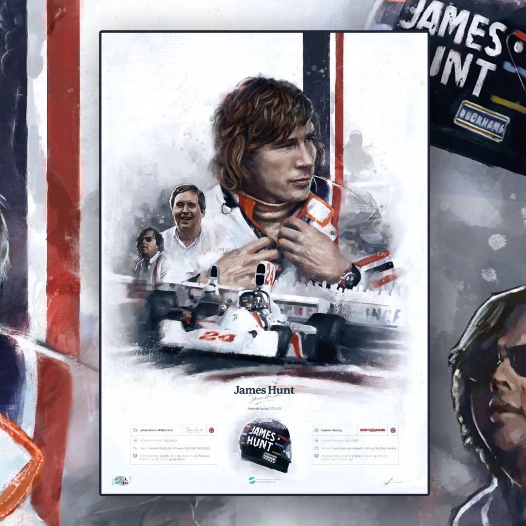James Hunt, Formula 1 poster artwork
