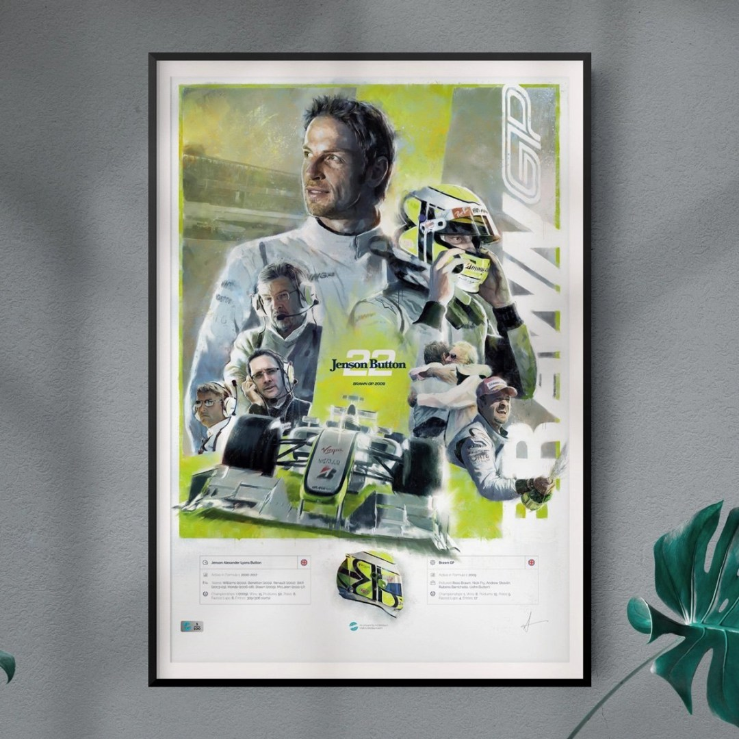 Jenson Button Artwork