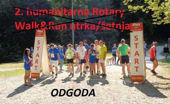 2. humanitarna Rotary Walk&Run utrka/šetnja - odgoda