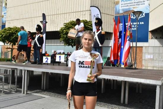 Simona Jambrošić - pobjednica u utrci na 5 km 26. Joma Varaždinskog polumaratona
