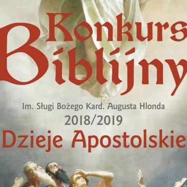 KONKURS BIBLIJNY: Listy laureatów oraz wyniki w roku szkolnym 2018/2019
