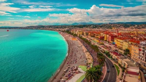 Beautiful View of Nice City, Stock Footage Video (100% ...
