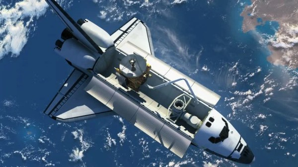 Stock Video Clip of Space Shuttle Deploying Satellite 3D