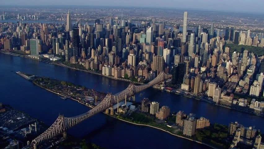 Aerial Establishing Shot Of Midtown Stock Footage Video