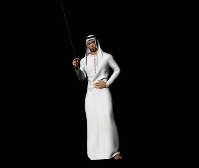 Arab Man D Dancing Traditional Arabic Dance Alpha Channel Included