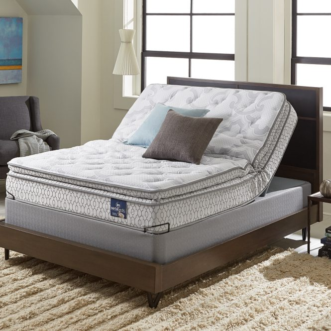 Serta Extravagant Pillow Top Full Size Mattress Set With Elite Pivot Foundation Free Shipping Today 17268212