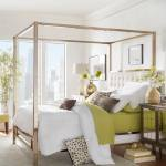 Solivita Champagne Gold Queen Size Metal Canopy Bed By Inspire Q Bold Overstock 10395752