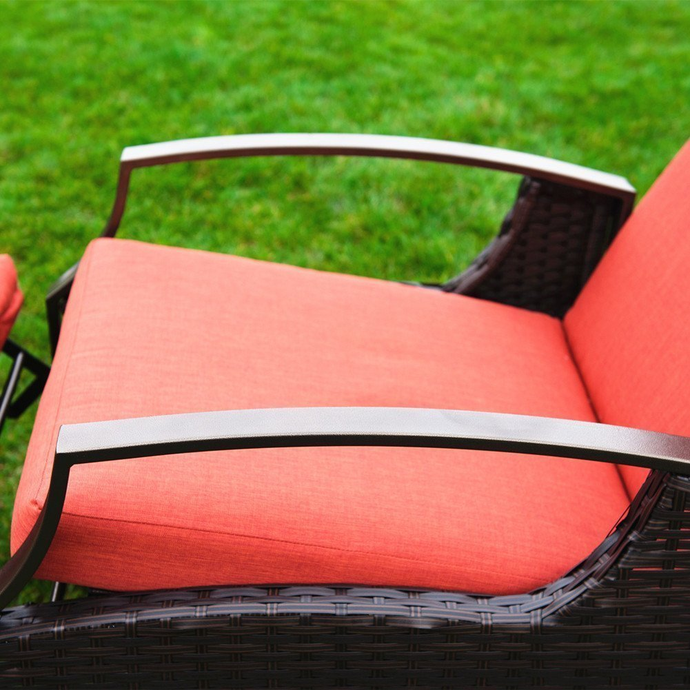 Shop Naturefun Indoor Outdoor Wicker Adjustable Recliner Chair with     Shop Naturefun Indoor Outdoor Wicker Adjustable Recliner Chair with Thick  Spunpoly Cushion   Free Shipping Today   Overstock com   12896242