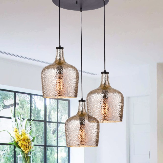 Belinda Mouth N Silver Ripple Glass Cer Antique Black Pendant Chandelier Free Shipping Today 22396357