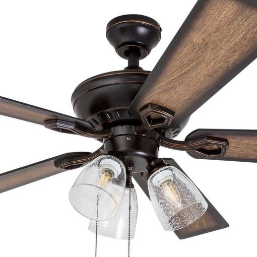 Shop 52  Prominence Home Glenmont Rustic Three Light  Edison Bulb     Shop 52  Prominence Home Glenmont Rustic Three Light  Edison Bulb  LED Ceiling  Fan  Oil Rubbed Bronze   Free Shipping Today   Overstock com   18220414