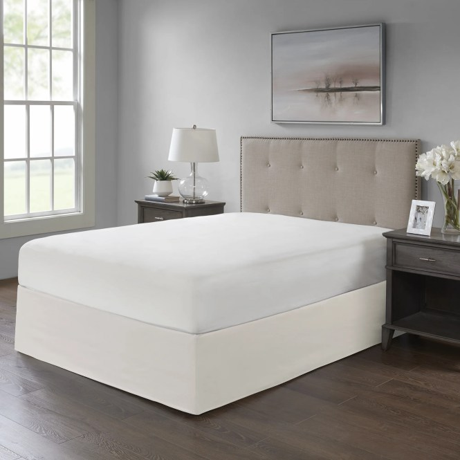 Madison Park Simple Fit Wrap Around Adjule 26 Inch Drop Bedskirt Free Shipping On Orders Over 45 25448873