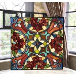 Chloe Tiffany Style Square Stained Glass Window Panel On Sale Overstock 25417441