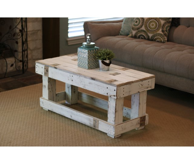 Shop White Farmhouse Coffee Table Ships To Canada Overstock 25602399