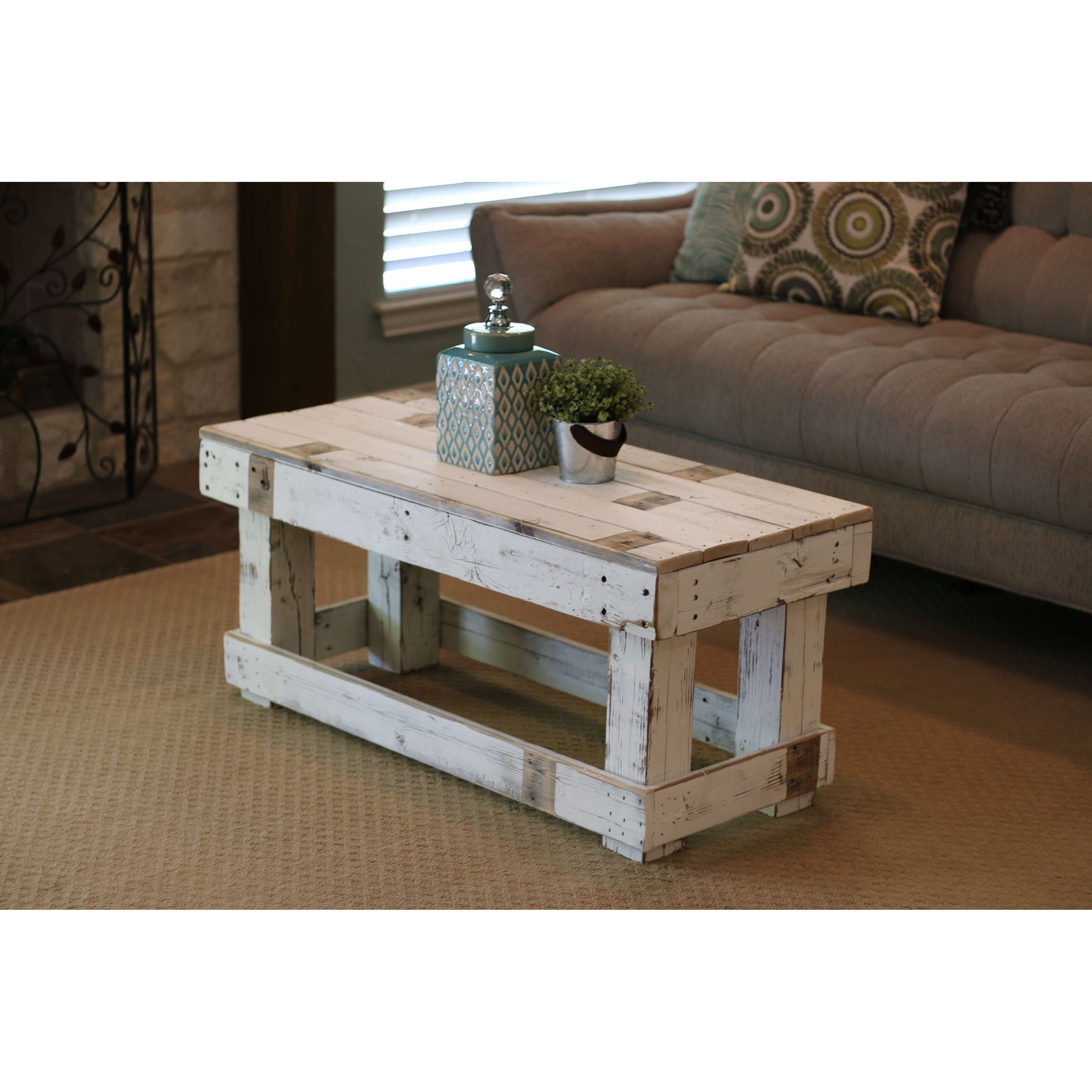 Shop White Farmhouse Coffee Table Free Shipping Today Overstock 25602399