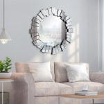 Traverse Modern Round Wall Mirror Bathroom Vanity Mirror Overstock 30415890