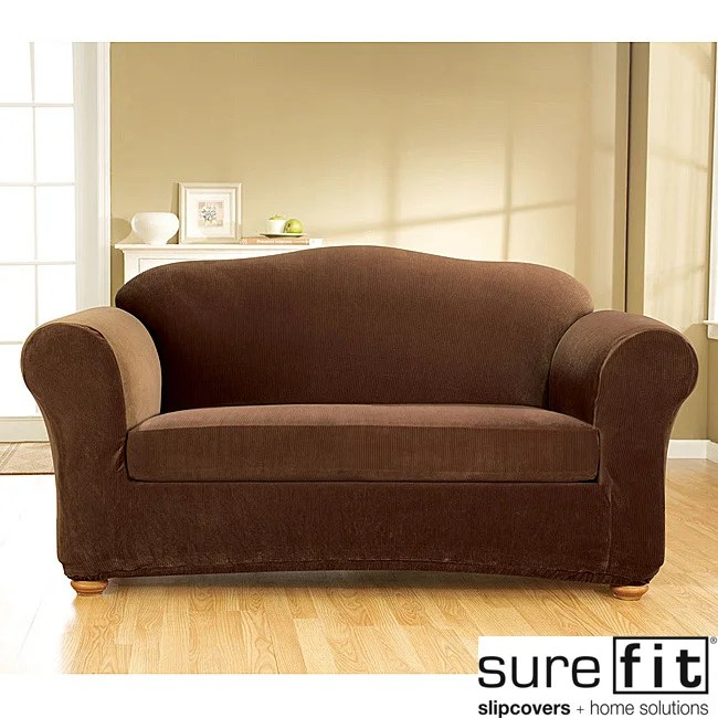 shop sure fit stretch corduroy 3 piece sofa slipcover free shipping today overstock 6545263
