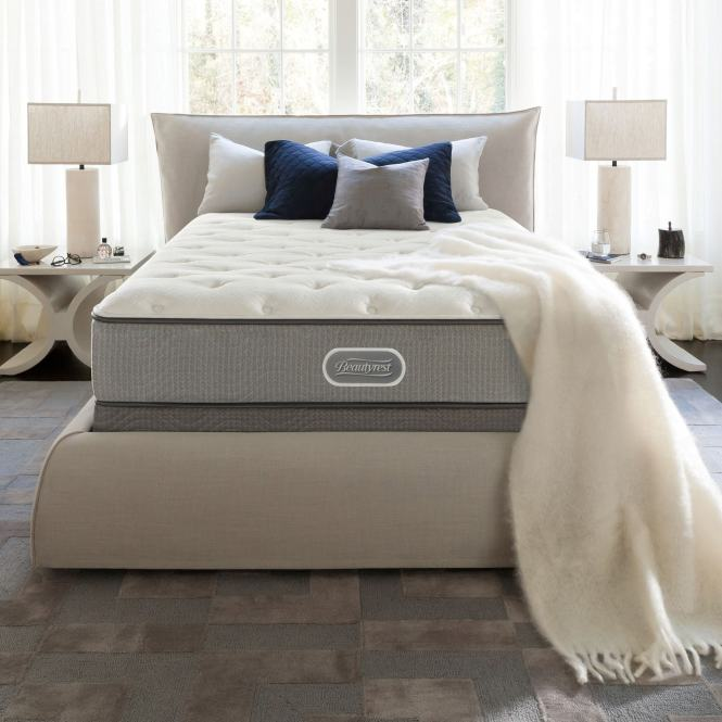 Beautyrest Silver Maddyn Plush Full Size Mattress Set Free Shipping Today 15416992