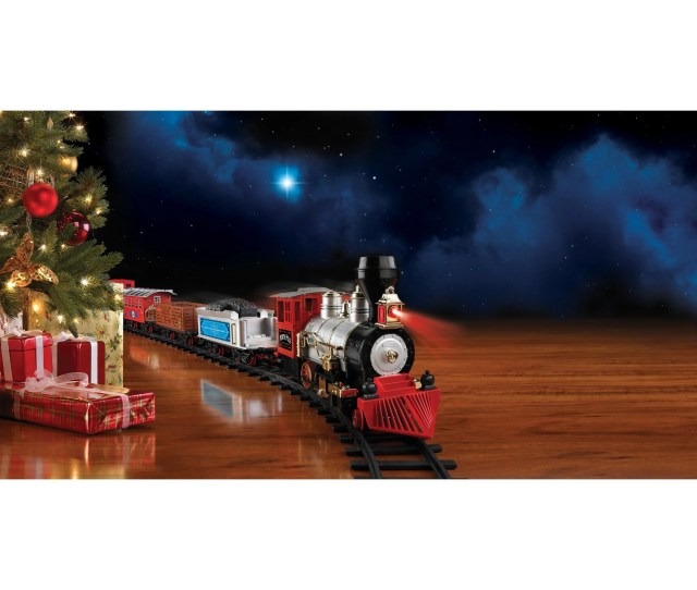 Shop Blue Hat North Pole Junction Christmas Train Set Free Shipping Today Overstock Com