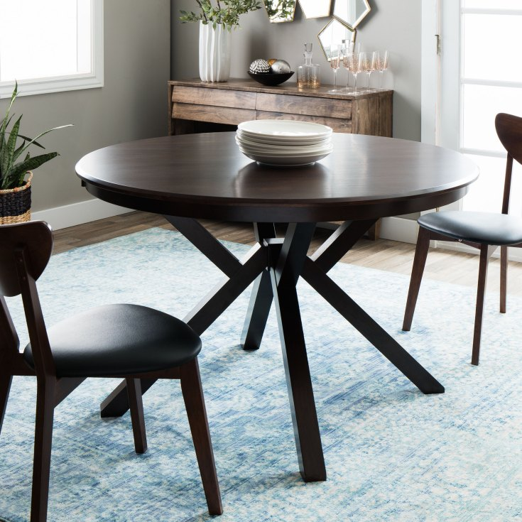 shop clay alder home context dark brown dining table - free shipping