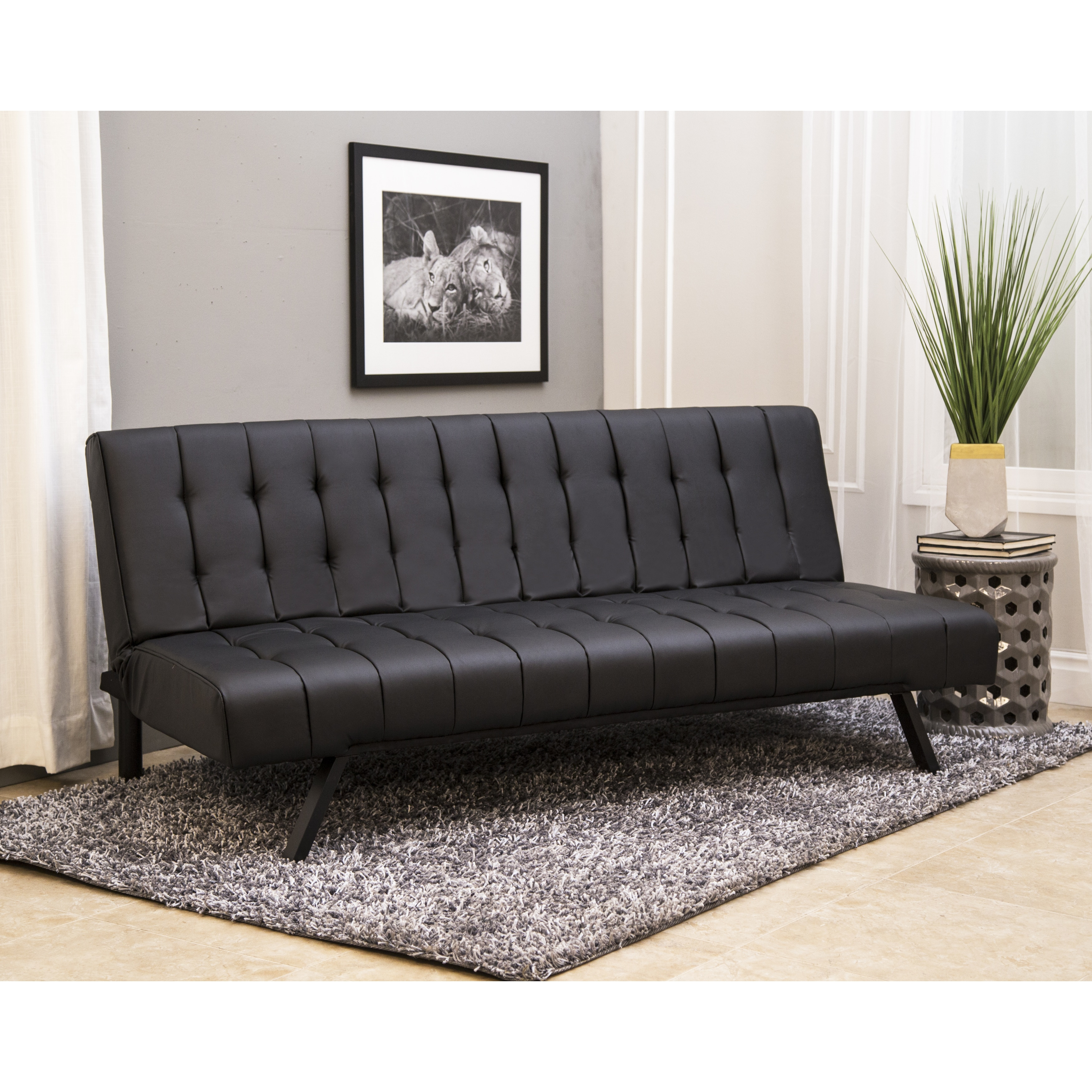shop abbyson milan futon sleeper sofa bed on sale free shipping today overstock com 9922882
