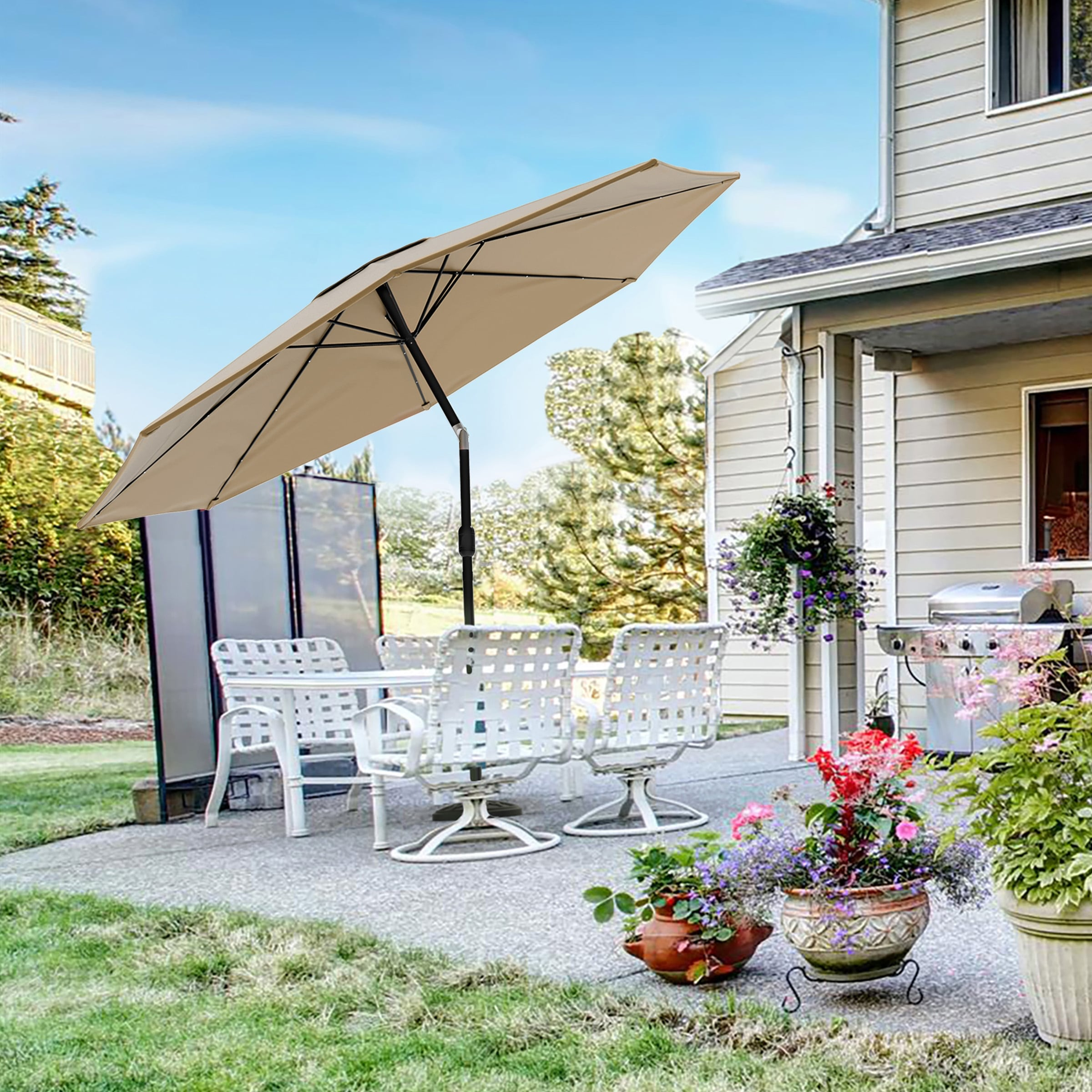 boynton 10 foot patio umbrella with solar powered led lights by havenside home