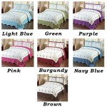 3pc Light Blue Green Purple Pink Red Blue Brown Cal King Bedspread Quilted High Quality Bed Cover Embroidery Quilt Overstock 11883035