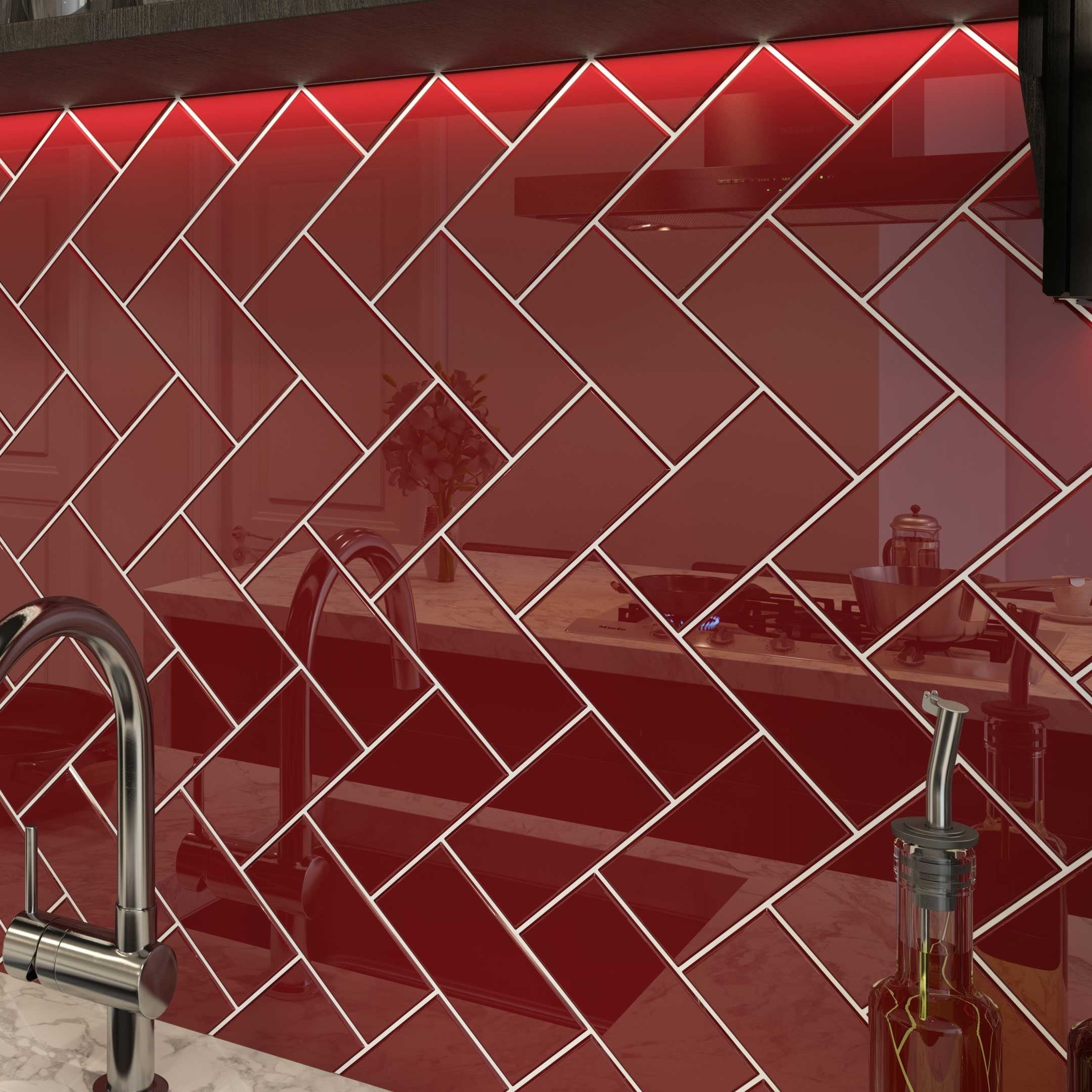 ruby red 3x6 glass subway tile