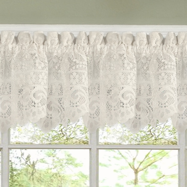 Luxurious Old World Style Lace Kitchen Curtains Tiers Valances