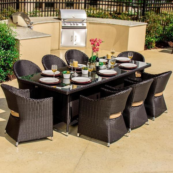 outdoor resin wicker patio furniture sets Shop Lakeview Outdoor Designs Providence 8-person Resin