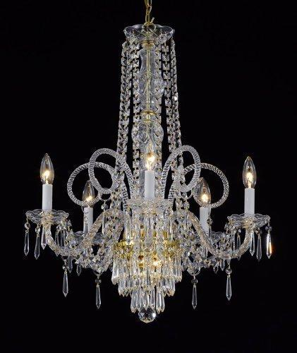 New Crystal Chandelier Lighting Murano Venetian Style H25x W24