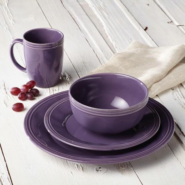 4 Dinnerware Set Purple