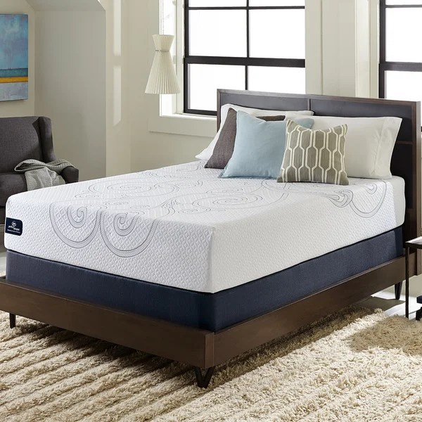 Serta Perfect Sleeper Isolation Elite 12 Inch Queen Size Gel Memory Foam Mattress Set