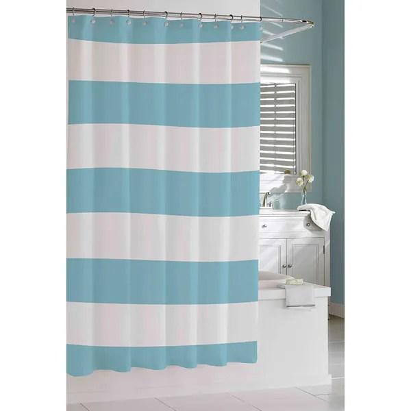 coastal stripe shower curtain