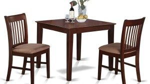 Shop Mahogany Square Table And 2 Kitchen Chairs 3 Piece