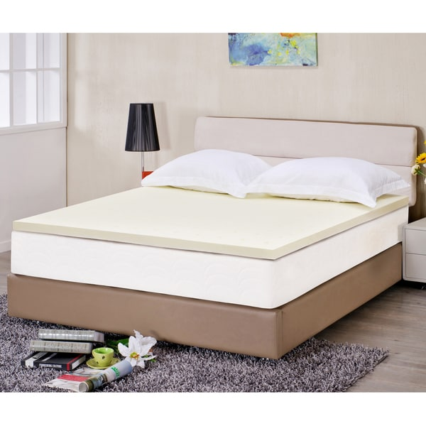 Superior 2 Inch Ventilated High Density Memory Foam Mattress Topper